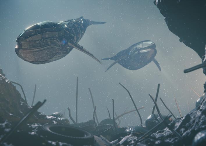 Robotic Whales, by Henri Hebeisen